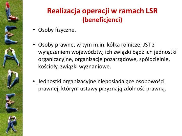 Realizacja operacji w ramach LSR
