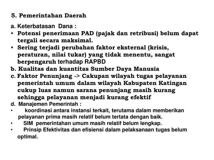 5. Pemerintahan Daerah