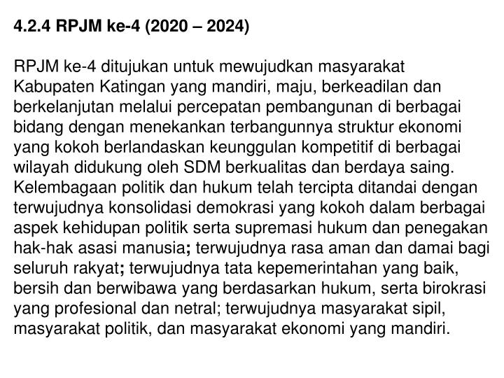 4.2.4 RPJM ke-4 (2020 – 2024)