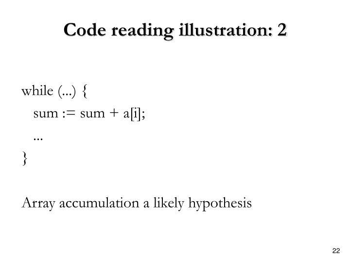 Code reading illustration: 2