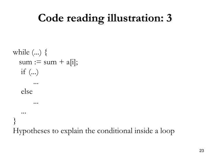 Code reading illustration: 3