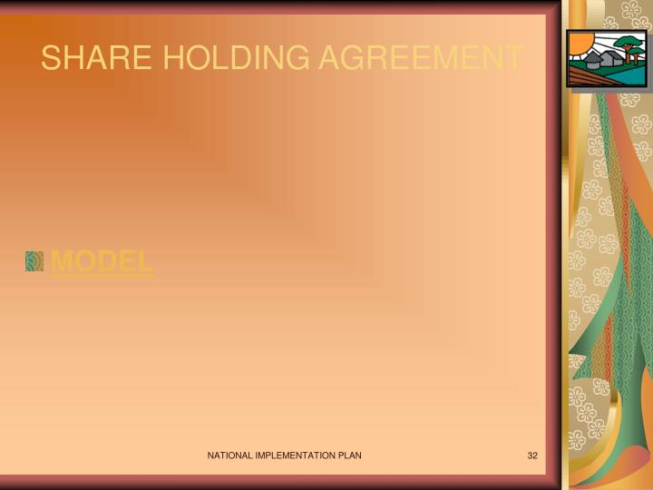 SHARE HOLDING AGREEMENT