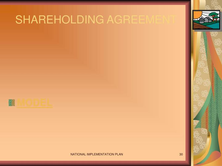 SHAREHOLDING AGREEMENT