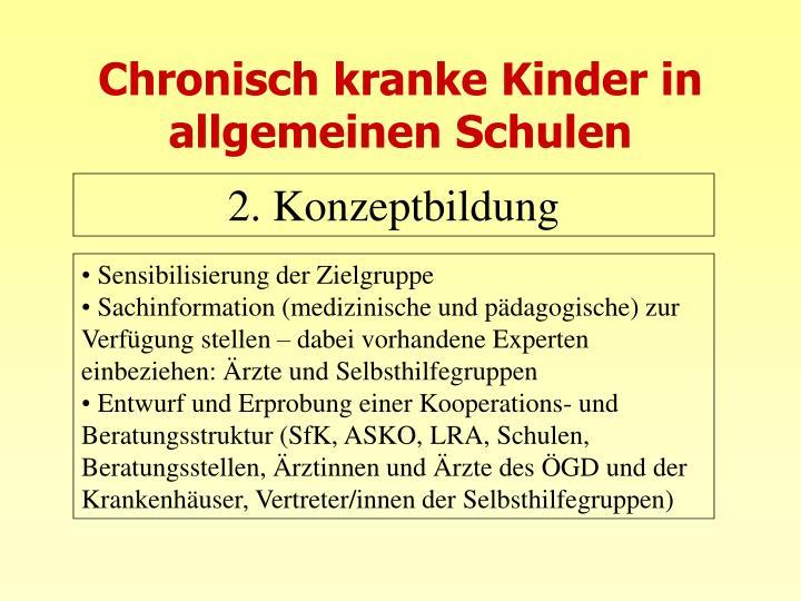 Chronisch kranke Kinder in allgemeinen Schulen