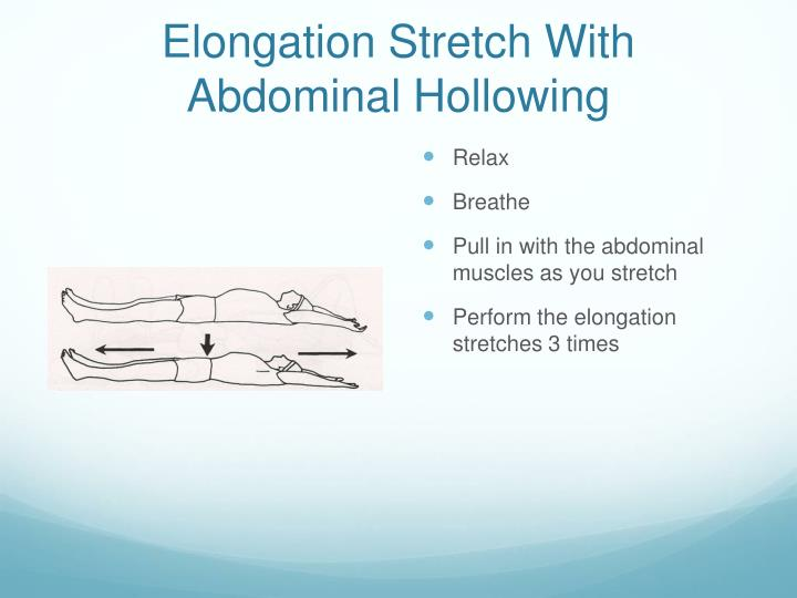 Elongation Stretch With Abdominal Hollowing