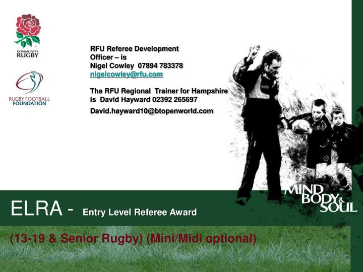 RFU Referee Development
