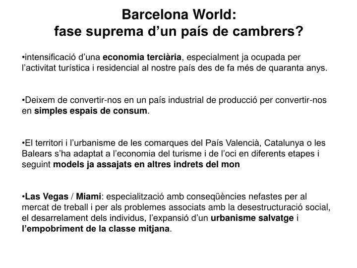Barcelona World: