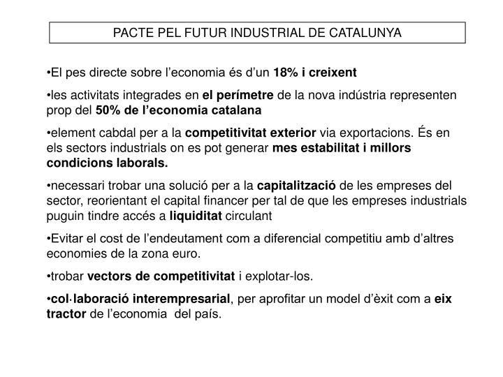 PACTE PEL FUTUR INDUSTRIAL DE CATALUNYA