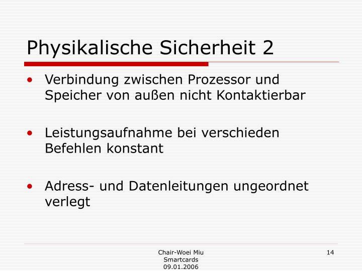 Physikalische Sicherheit 2