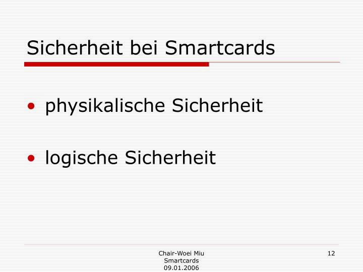 Sicherheit bei Smartcards