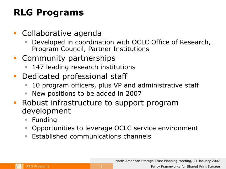 RLG Programs