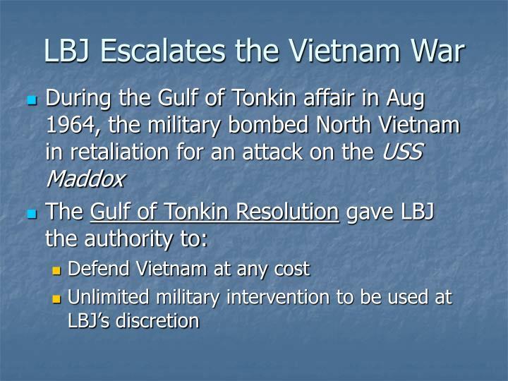 LBJ Escalates the Vietnam War