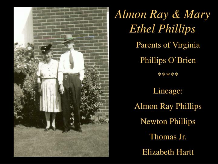 Almon Ray & Mary Ethel Phillips
