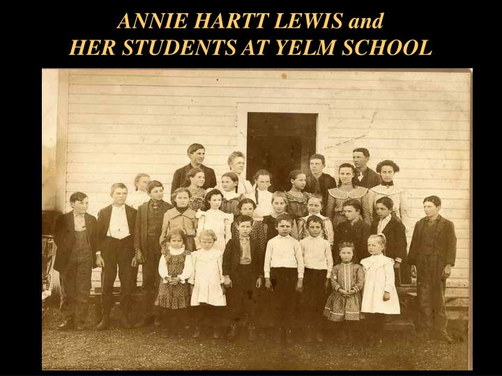 ANNIE HARTT LEWIS and