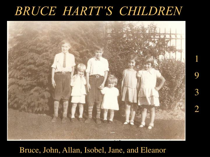 BRUCE  HARTT'S  CHILDREN