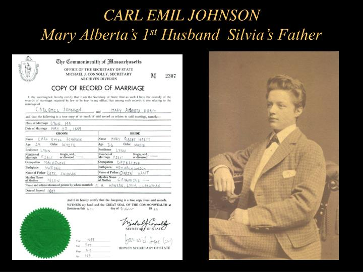 CARL EMIL JOHNSON