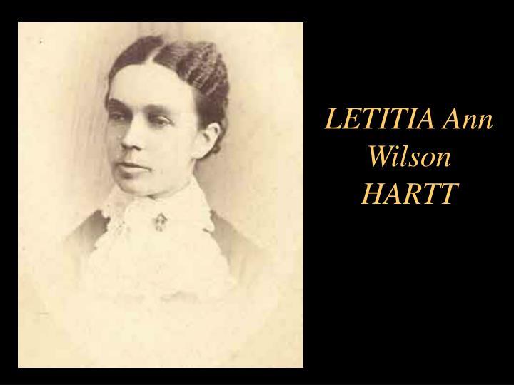LETITIA Ann Wilson HARTT