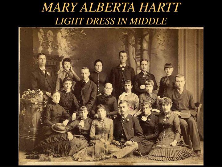 MARY ALBERTA HARTT