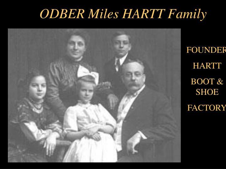 ODBER Miles HARTT Family