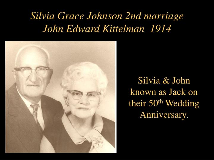 Silvia Grace Johnson 2nd marriage