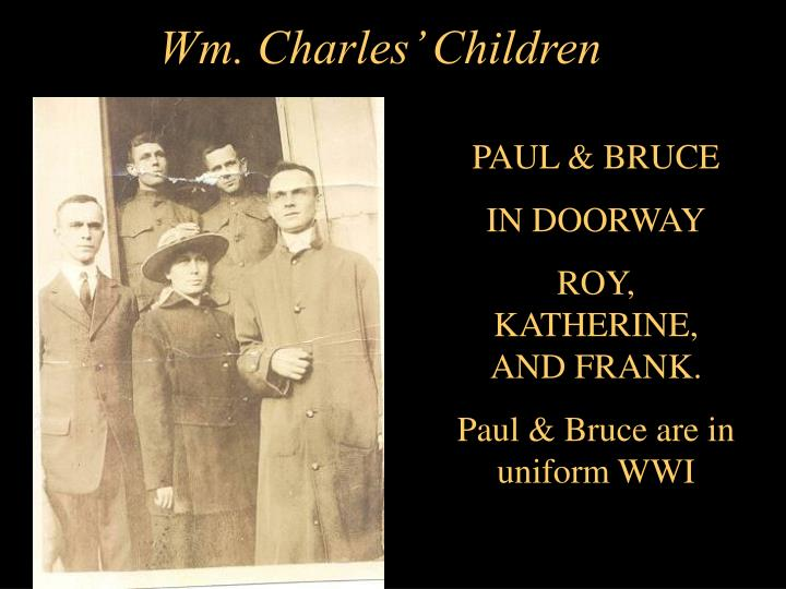Wm. Charles' Children