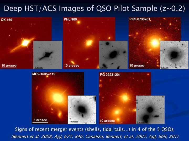 Deep HST/ACS Images of QSO Pilot Sample (z~0.2)