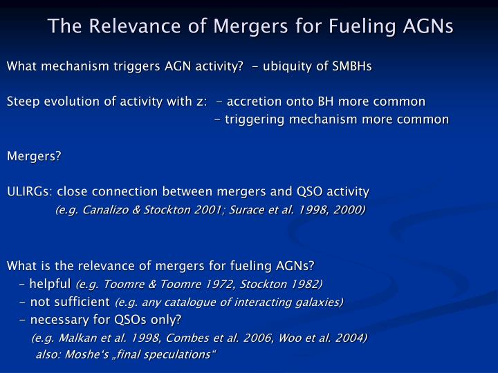 The Relevance of Mergers for Fueling AGNs