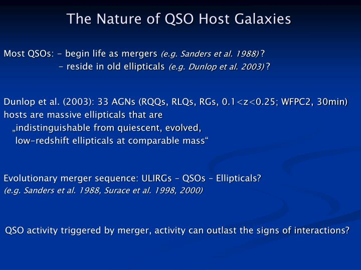 The Nature of QSO Host Galaxies