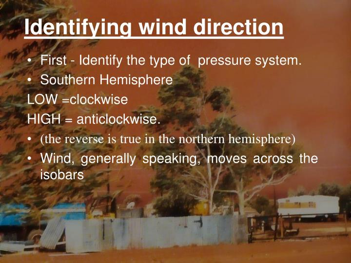 Identifying wind direction
