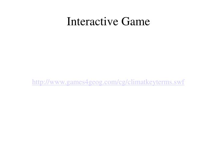 Interactive Game