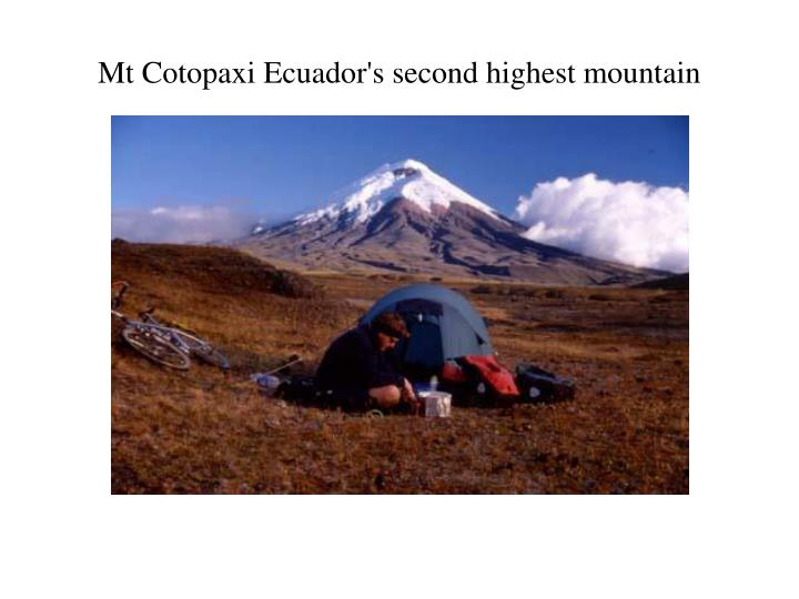 Mt Cotopaxi Ecuador's second highest mountain
