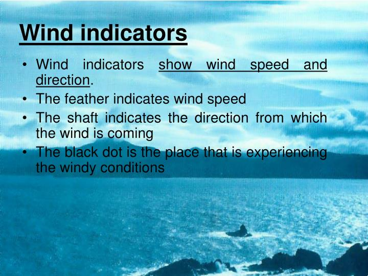 Wind indicators
