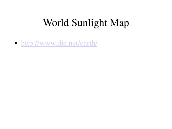 World Sunlight Map