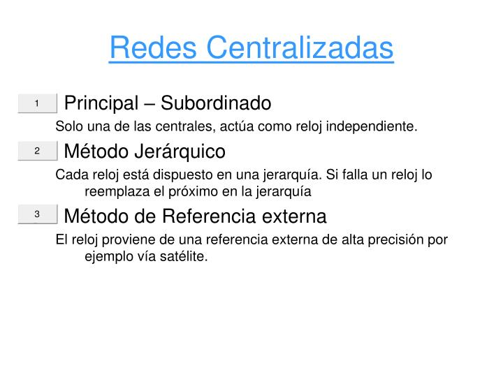Redes Centralizadas