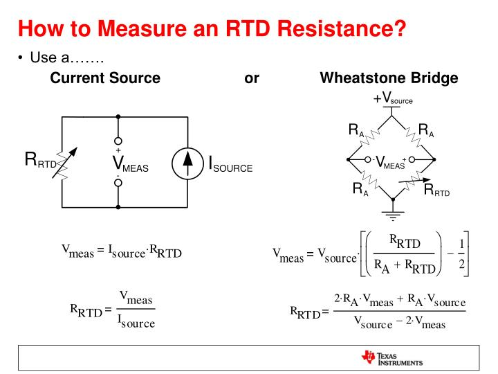 How To Measure Resistance Using Wheatstone Bridge on ntc thermistors temperature measurement with wheatstone bridge
