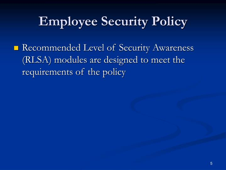 employee security awareness