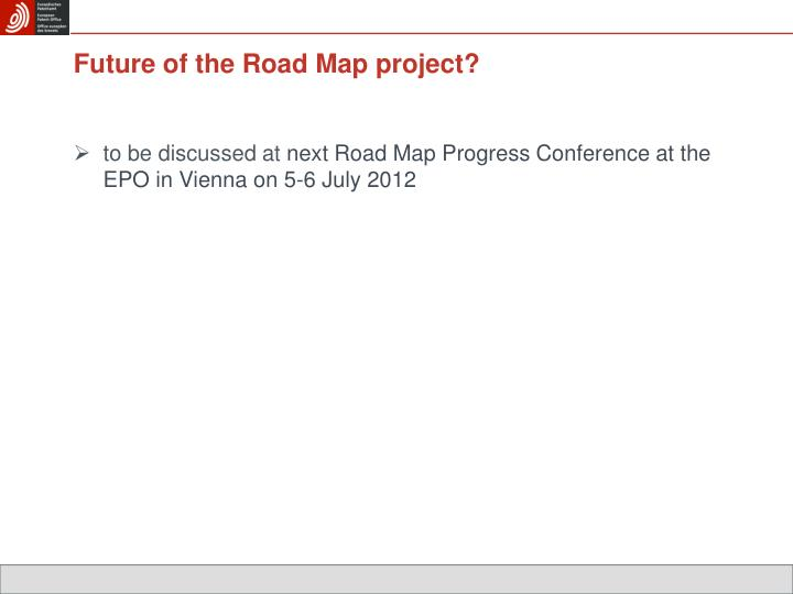 Future of the Road Map project?