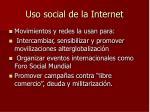 uso social de la internet