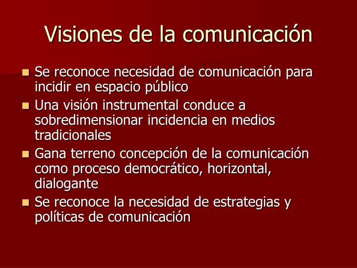 Visiones de la comunicación