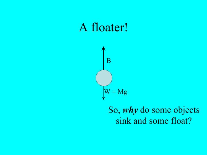 A floater!
