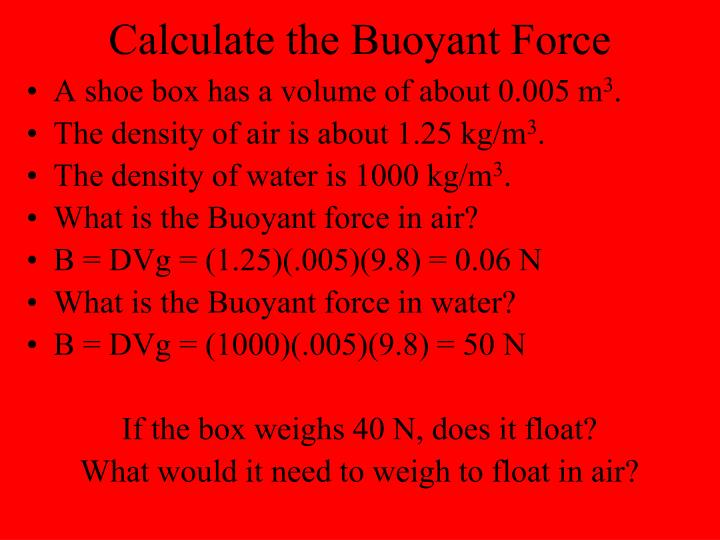 Calculate the Buoyant Force