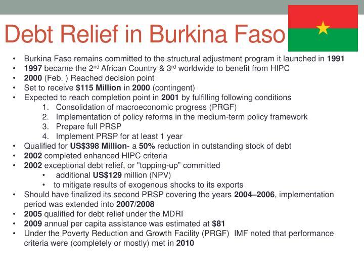 Debt Relief in Burkina Faso