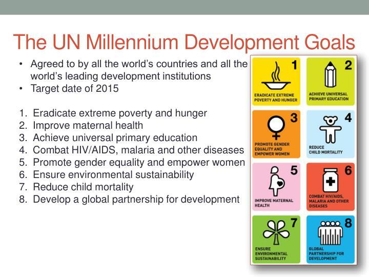 The UN Millennium Development Goals