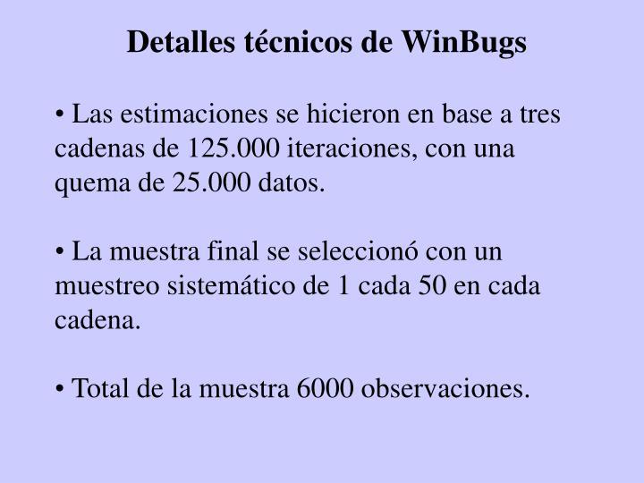 Detalles técnicos de WinBugs
