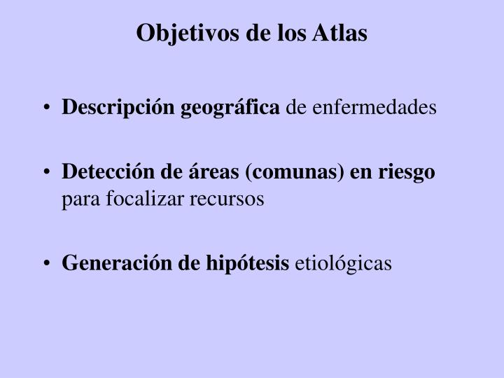 Objetivos de los Atlas