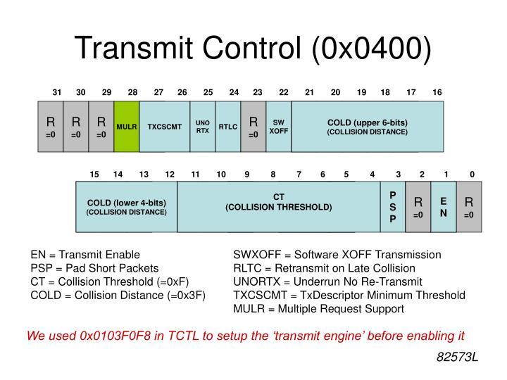 Transmit Control (0x0400)