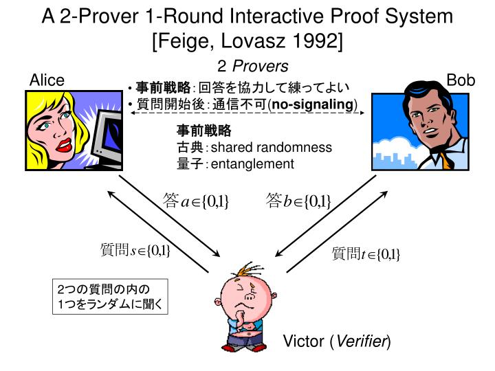A 2-Prover 1-Round Interactive Proof System