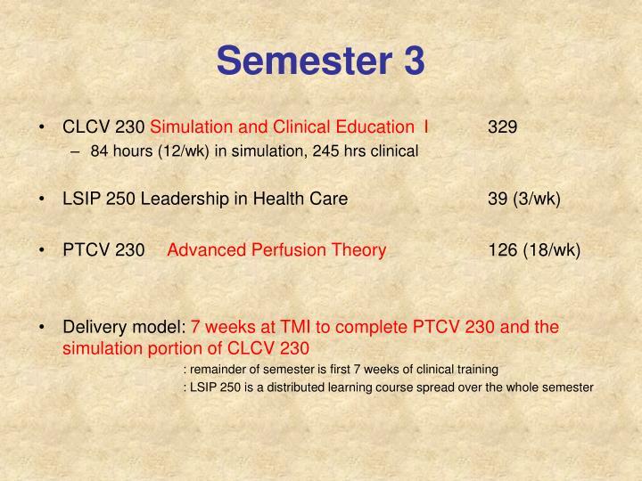 Semester 3