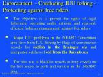 enforcement combating iuu fishing protecting against free riders
