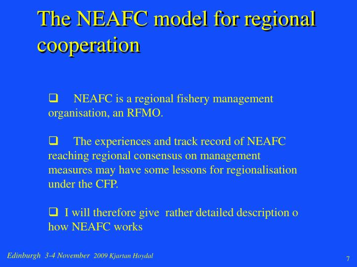 The NEAFC model for regional cooperation